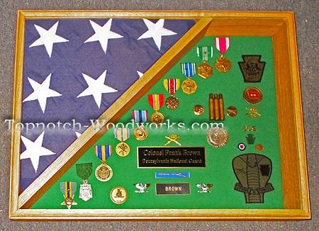 Army burial shadow box