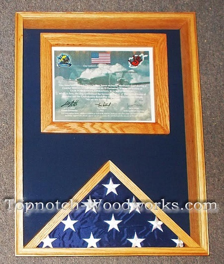 Army certificate shadow box