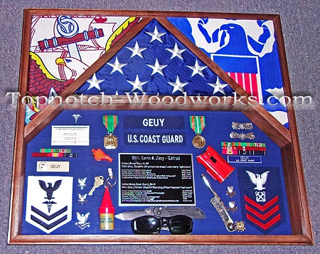 Army military shadow box