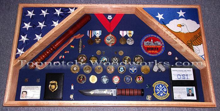 USAF Large 2 flag shadow box