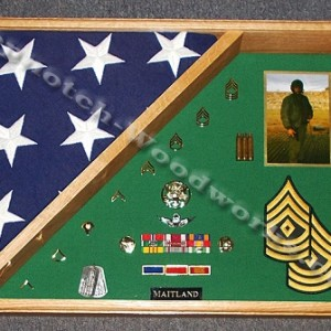Burial flag shadow box