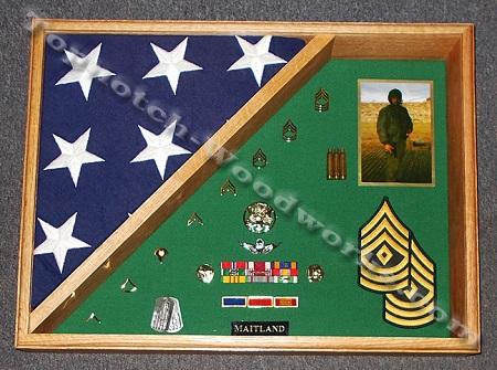 Burial flag shadow box
