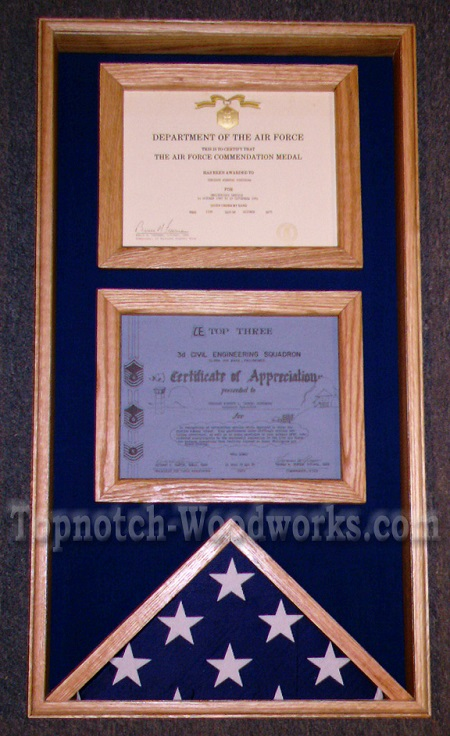 Certificate  display shadow box123