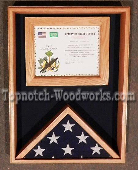 Certificate flag case