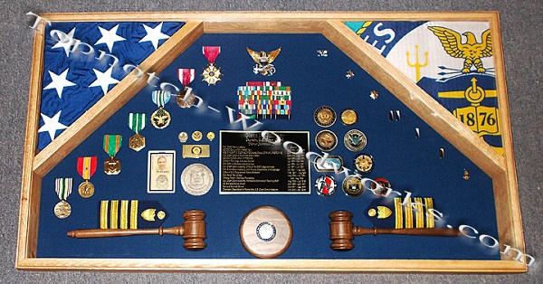 Coast Guard flag and shadow box