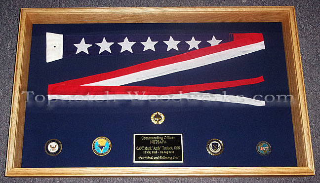 Commishing Pennant display case