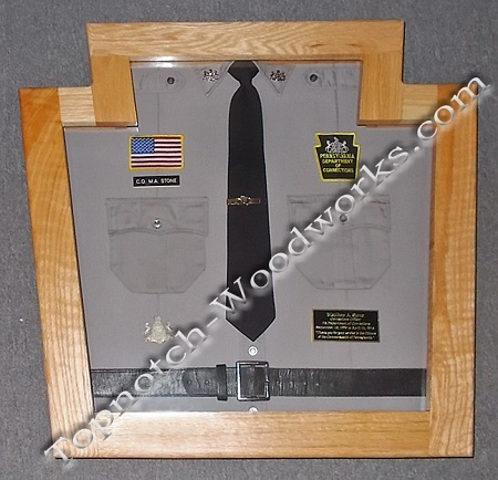 Correctional officer shadow box