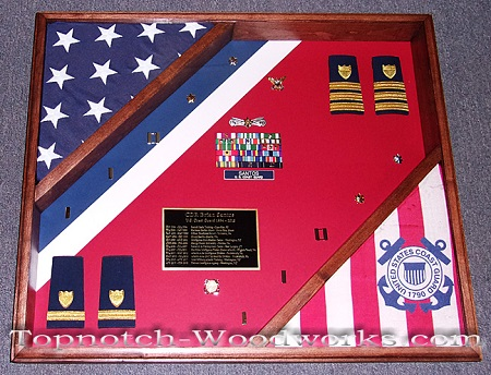 Custom Navy shadow box