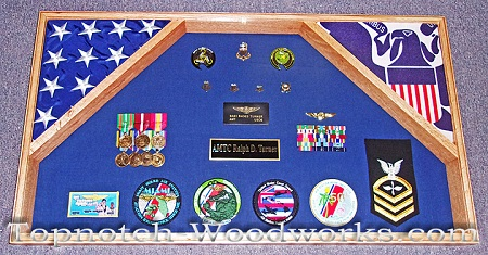 Custom double flag shadow box