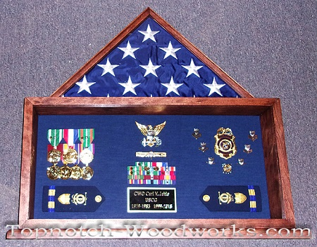 Custom made military shadow box