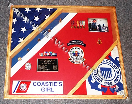 Cutter flag display case