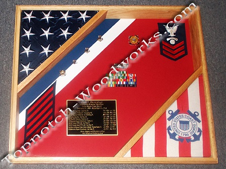 Cutter shadow box with racing stripe