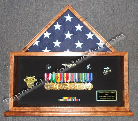 Desktop military shadow box