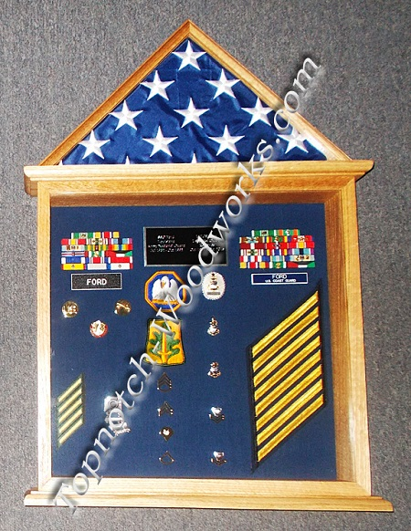 Doghouse shadow box and flag case 1