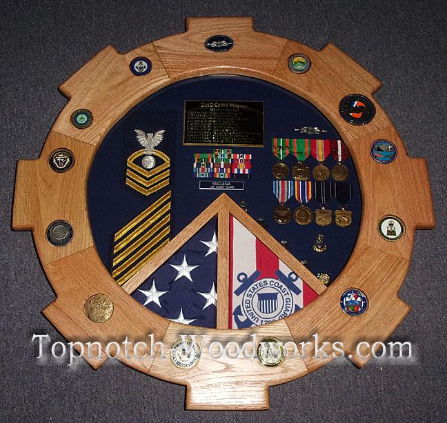 Engineman navy coast guard shadow box