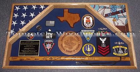 Federal prison guard 2 flag shadow box