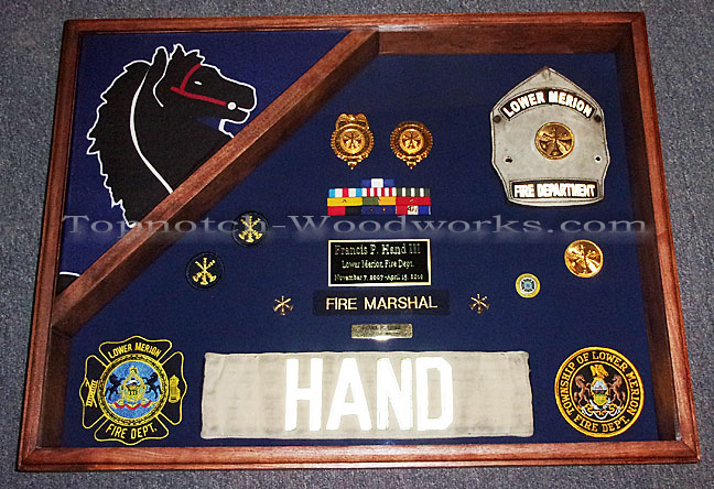 Fire department shadow box