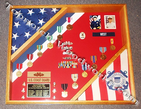 Flag display case uscg