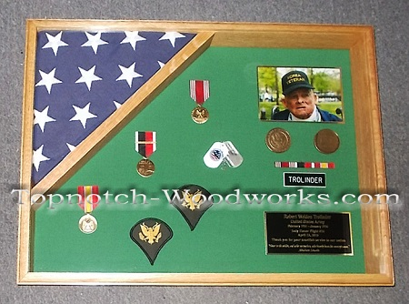 Korean war veteran military shadow box