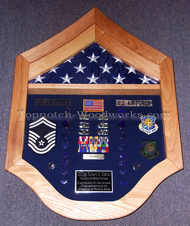 MSgt Shadow box for retirement