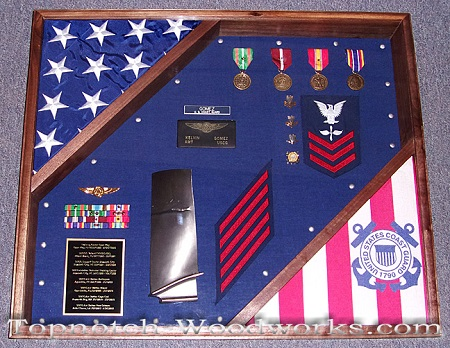 Marine corps shadow box 2 flags