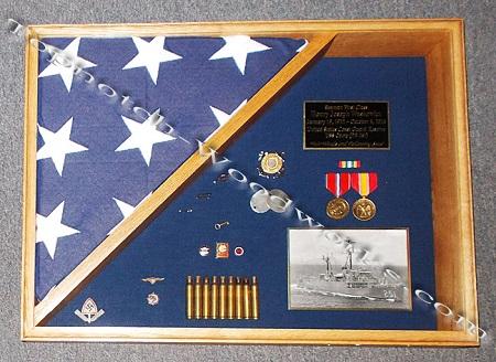 Military burial flag shadow box