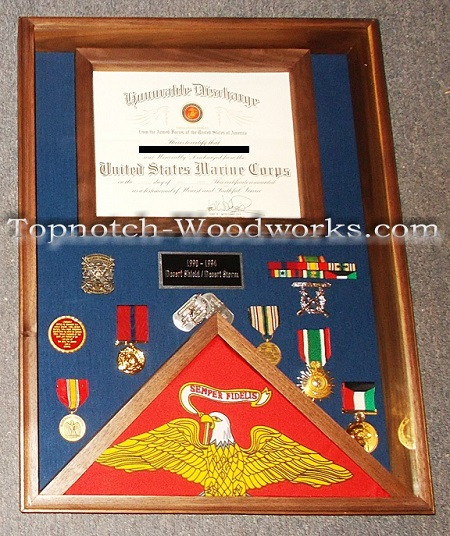 Military discharge shadow box
