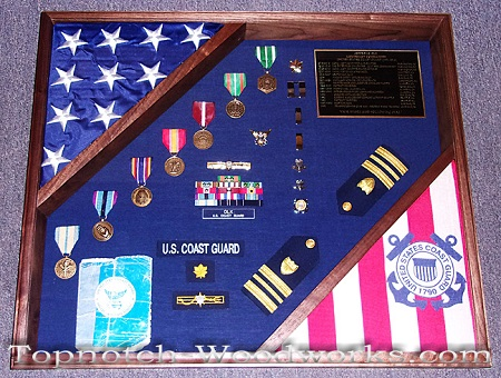 Military officer shadow box