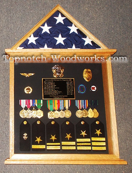 Navy Doghouse shadow box