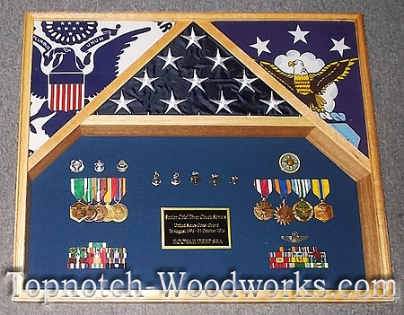 Navy diver shadow box