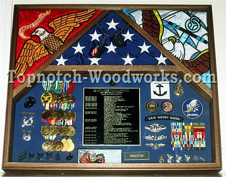 Navy flag display case