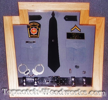 PA State cop shadow box
