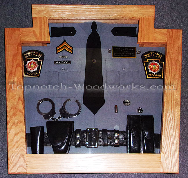 PA State police shadow box and display case