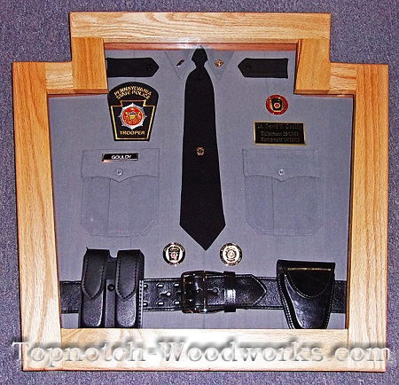 PA State police shadow box for shirt