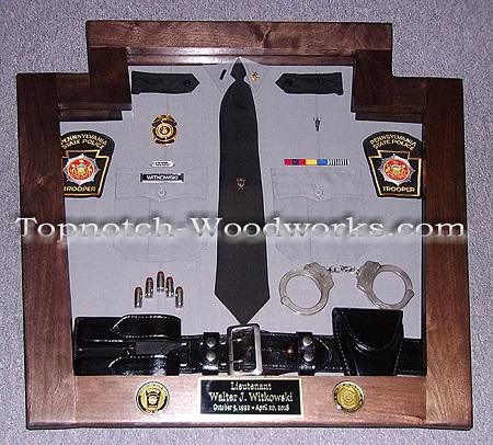 PA State police uniform shadow box