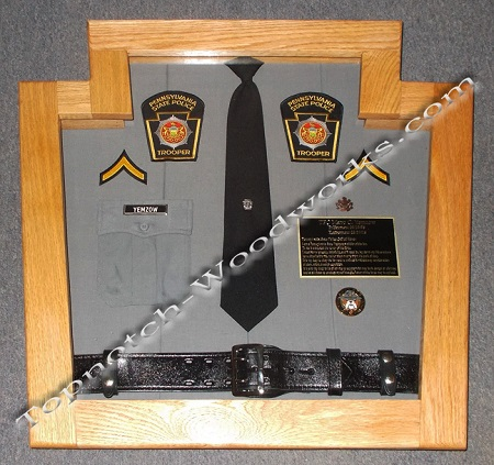 PA State trooper shadow box and display