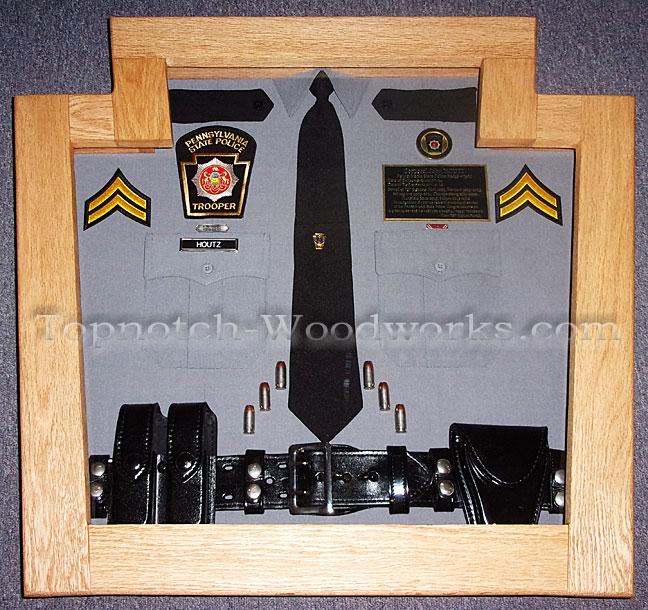 PA state police shirt shadow box