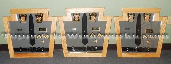 PA state trooper shadow box