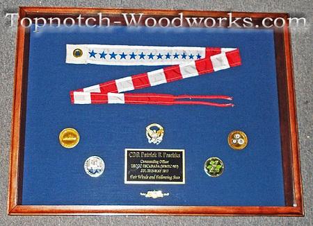 Pennant flag display case