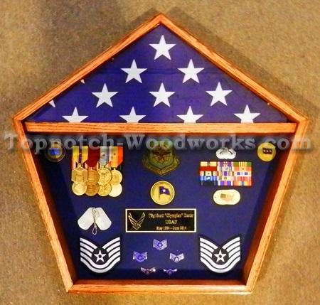 Pentagon flag display case