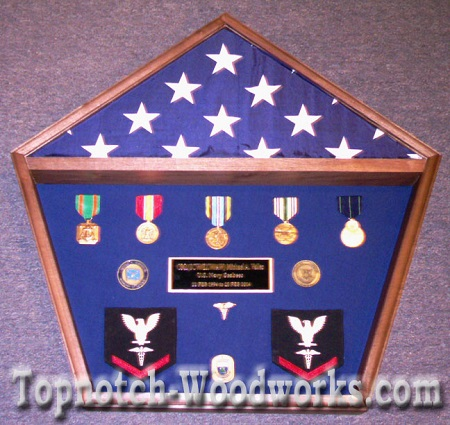 Pentagon shadow box