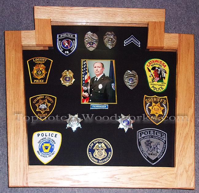 Police shadow box with photo