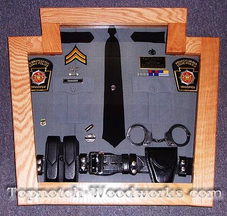 Police shirt shadow box
