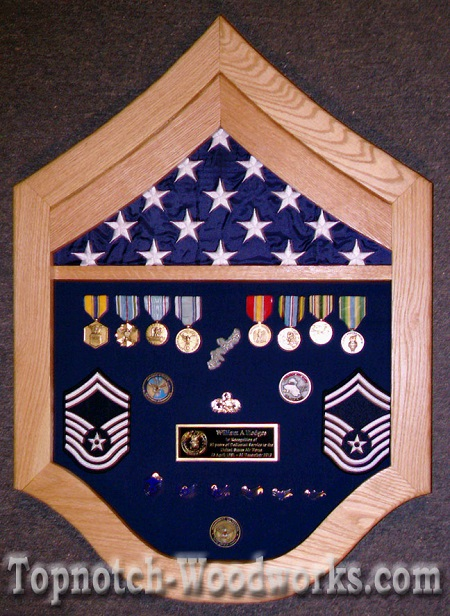 SMSgt military shadow box