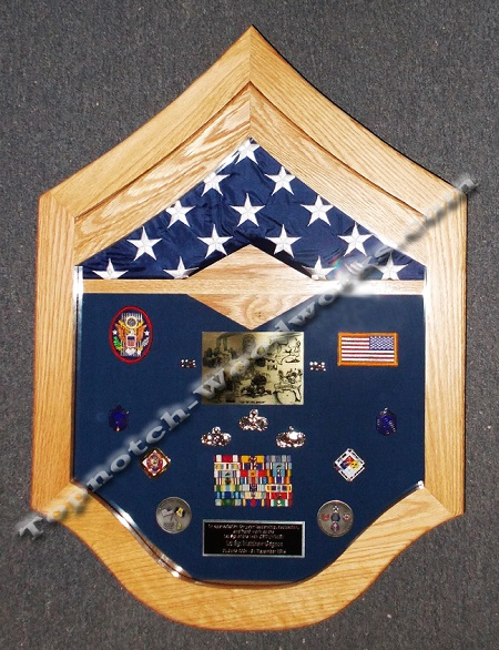 SMSgt shadow box