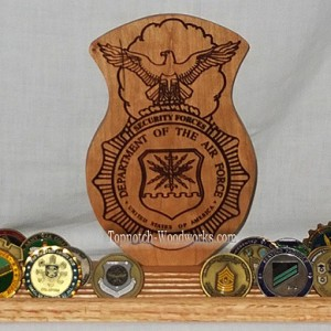 Security Police Coin Rack USAF
