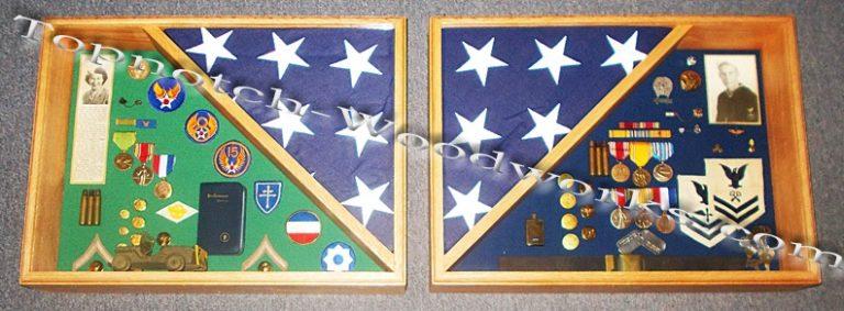 Shadow box for burial flag