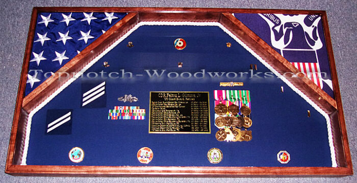 Shadow box with rope trim