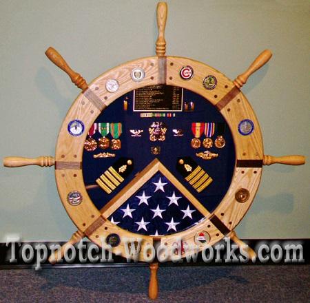Ship wheel shadow box1