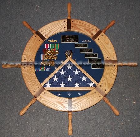 Ship wheel shadow box2
